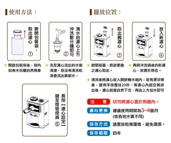 【晶工牌】感應式開飲機專用濾心(經濟型環保包)CF-2524 (4入一組)