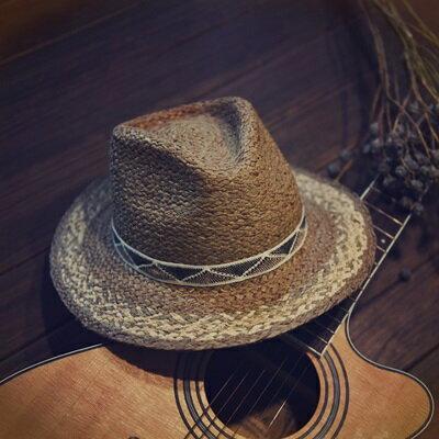 草帽手工編織爵士帽-歐美時尚夏季渡假女遮陽帽73si59【獨家進口】【米蘭精品】