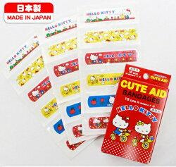 大賀屋 KITTY OK繃 凱蒂貓 (共6款) Hello Kitty 飛機 蘋果 鬱金香 蝴蝶結 腳踏車 點點 日製 J00013757