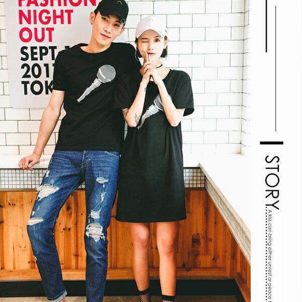 ◆快速出貨◆T恤.可客製化.情侶裝.純棉短T.MIT台灣製.班服.麥克風【YC581】可單買.艾咪E舖 2