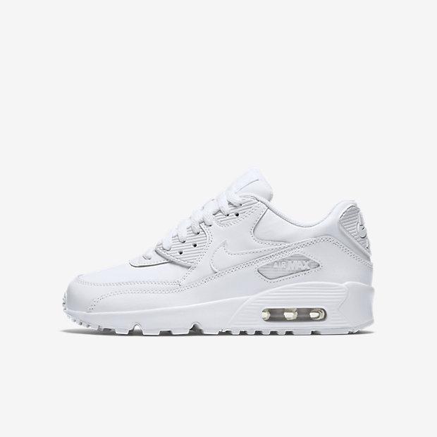 [ALPHA] NIKE AIR MAX 90 LEATHER 833412-100 跑鞋 大童鞋 氣墊鞋