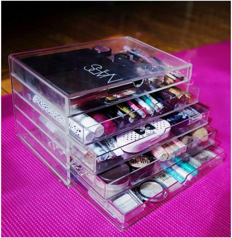 Cosmetic Jewelry Organizer 5 Drawer acrylic Box 4