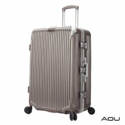 【AOU】29吋 極速致美 鋁框箱 行李箱 箱體SGS檢驗耐重25kg(香檳金90-020A)【威奇包仔通】