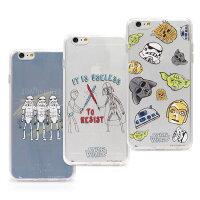 【Star Wars 】iPhone 6/6s 星際大戰時尚彩繪透明保護軟套-手繪系列