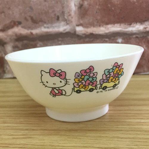 【真愛日本】17071300016 可微波茶碗-KT蝴蝶結白 三麗鷗 kitty 凱蒂貓 餐具 碗 廚房用品