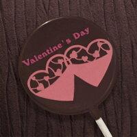 本命巧克力、義理巧克力推薦到情人節送禮小物-粉紅愛心巧克力棒棒糖-雙子愛心 (單品)就在KREATIVE CHOCOLATE推薦本命巧克力、義理巧克力