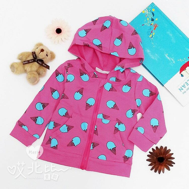 日系可愛繽紛冰淇淋連帽外套 秋冬新款 舒適 男童 女童 兒童 寶寶 小外套 童裝 baby【Merit 哎北比童裝】