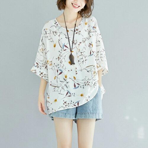 *ORead*印花雪紡T恤衫(4色F碼) 2