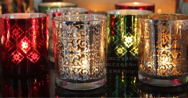歐式複古玻璃蠟燭台創意02