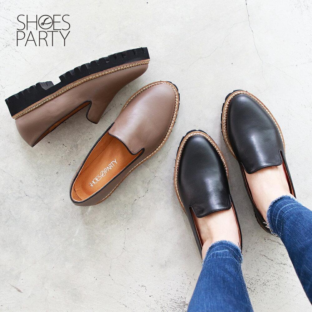 【C2-19517L】真皮厚底歐貝拉_Shoes Party 0