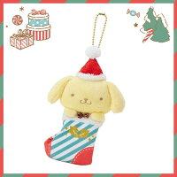 布丁狗周邊商品推薦到【真愛日本】17111400020 聖誕限定珠鍊娃-PN聖誕襪XM+ABL 三麗鷗 布丁狗 聖誕造型娃娃 玩偶