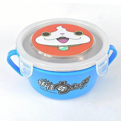 【悅兒樂婦幼用品?】妖怪手錶 不銹鋼雙耳隔熱餐碗-藍