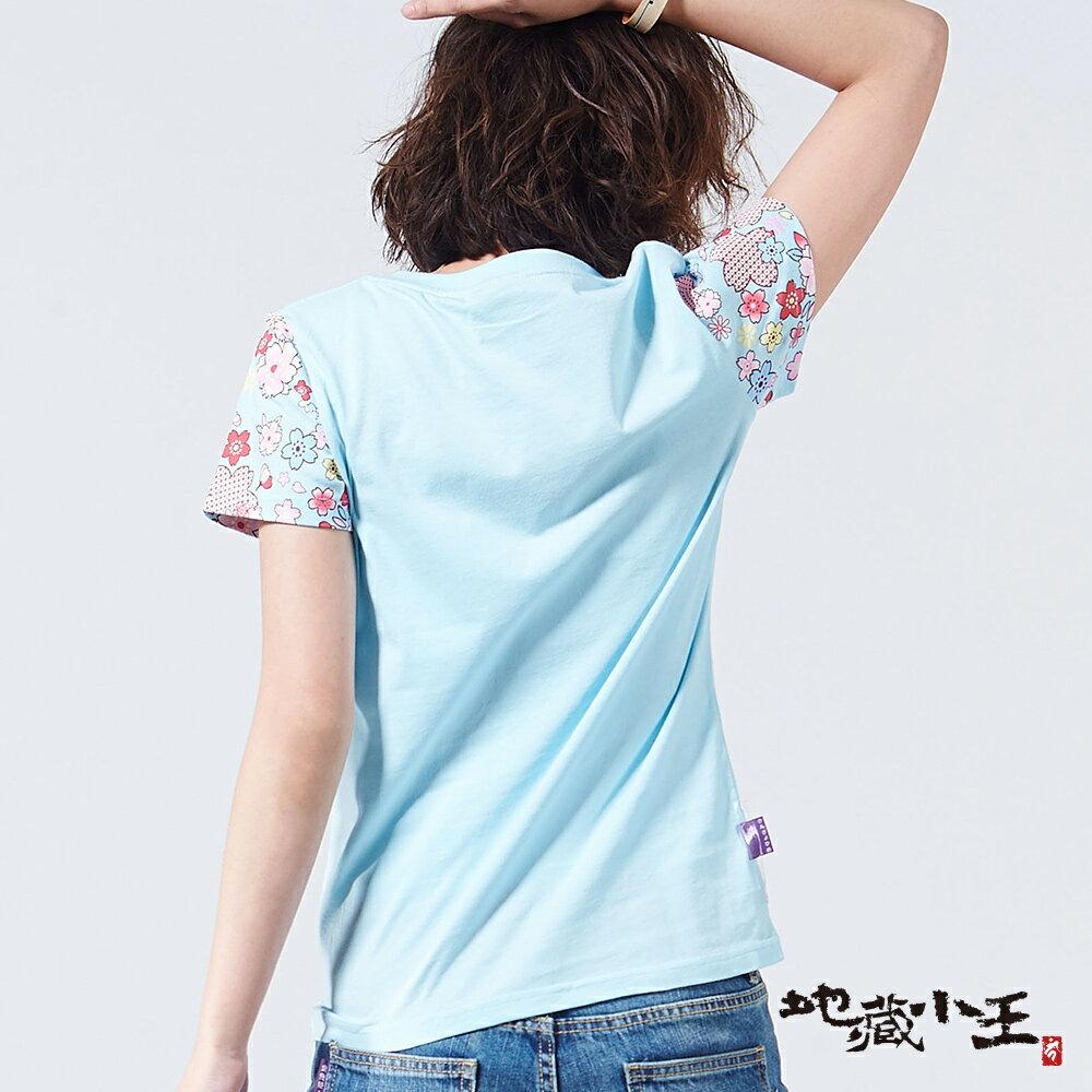 【限時5折】金魚姬櫻花爬口袋短TEE(淺粉 / 淺藍) - BLUE WAY  JIZO 地藏小王 7