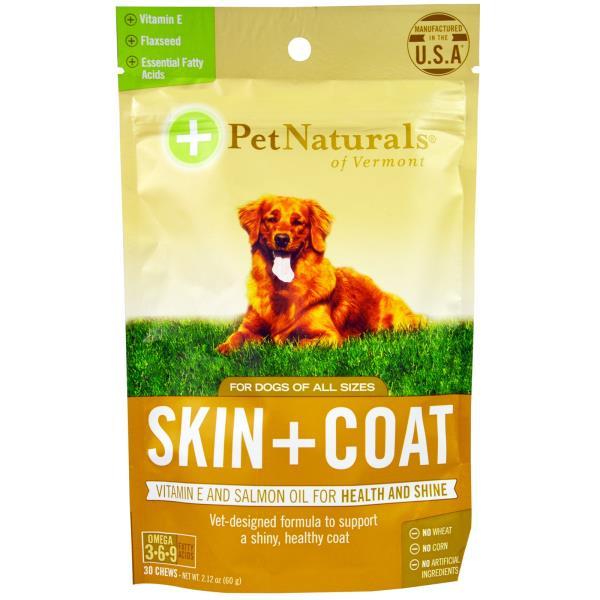 美國PetNaturals寶天然狗狗嚼碇Skin+Coat皮膚好好,狗狗保健,30顆