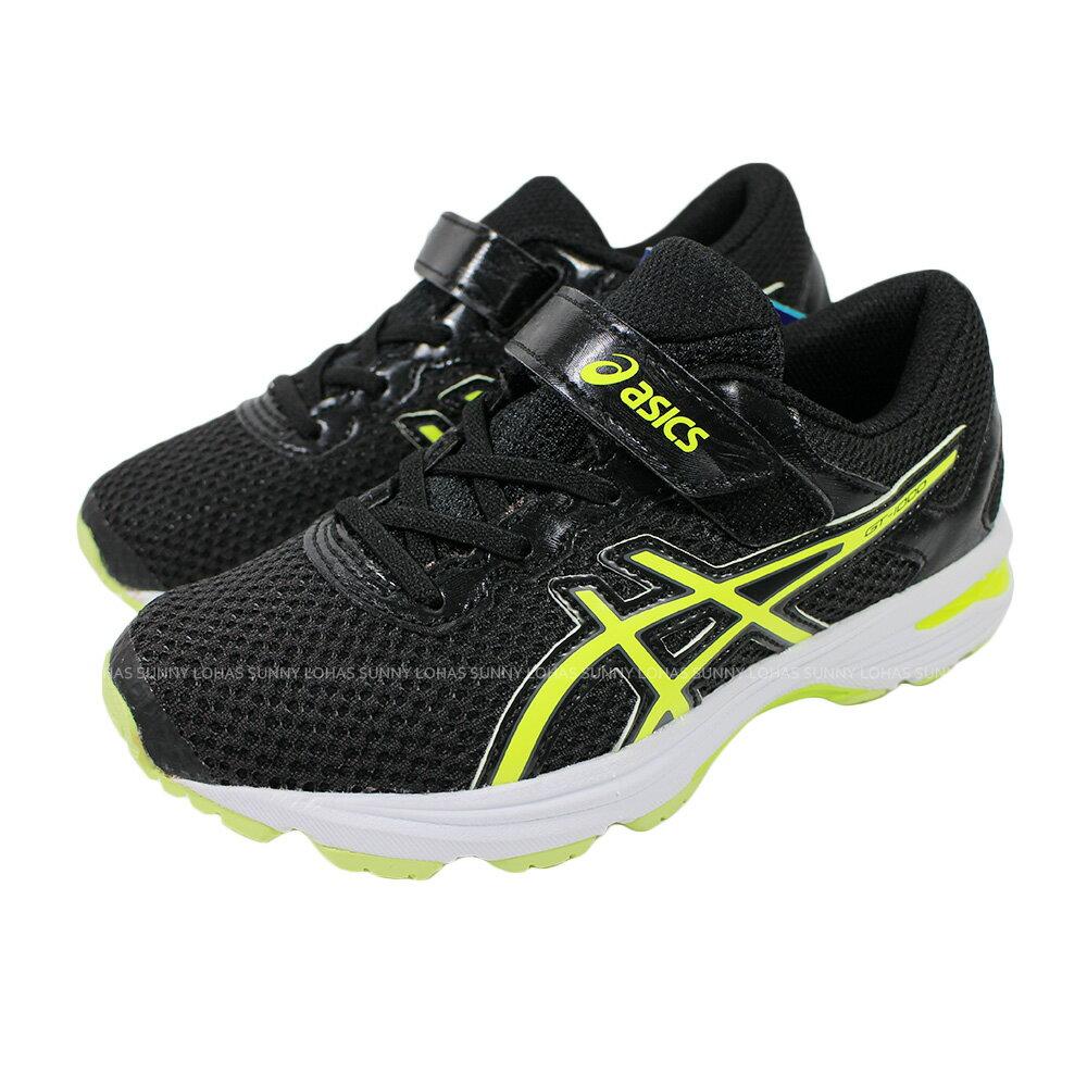 (B4) ASICS 亞瑟士 GT-1000 6 PS 中童 慢跑鞋 運動鞋 C741N-9007 黑 [陽光樂活]