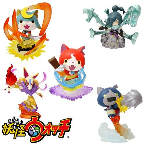【日本進口】全套5款 妖怪手錶 吉胖喵 武士喵 機器喵 九尾狐 大蛇 公仔 盒玩 景品 擺飾