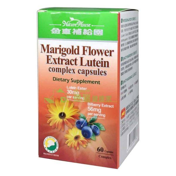 金車補給園 金盞花萃取物葉黃素複方軟膠囊 60粒 瓶◆德瑞健康家◆