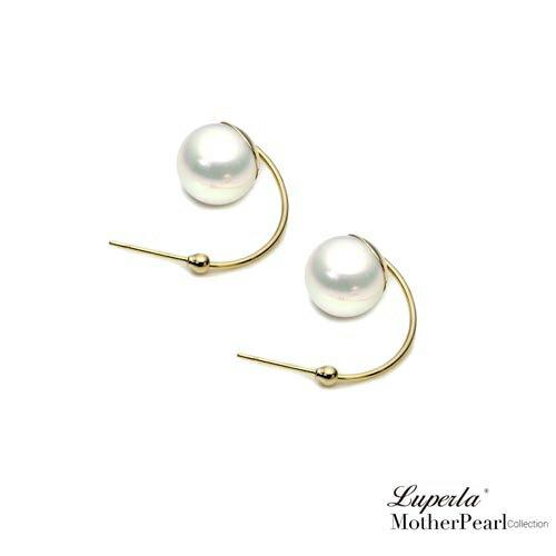 大東山珠寶 璀璨奢金 金屬風南洋貝寶珠耳環 0