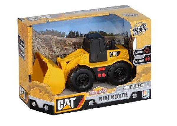 美國大牌CAT5吋聲光工程車裝載機(小山貓)【鯊玩具ToyShark】