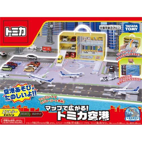 《TAKARA TOMY》TOMICA 機場地圖提盒  東喬精品百貨