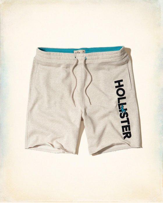 美國百分百【Hollister Co.】褲子 HCO 海鷗 短褲 棉褲 運動褲 休閒褲 男 奶油色 XS M號 H956