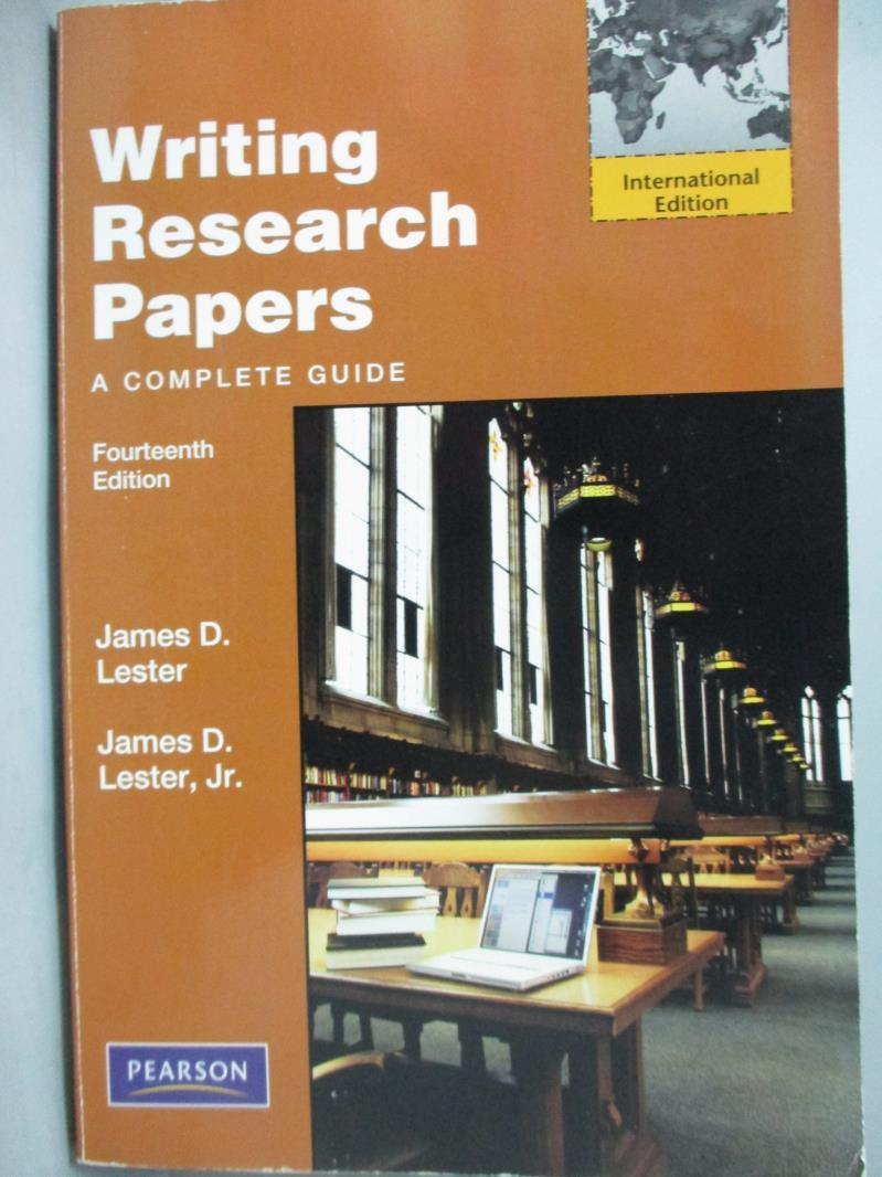 【書寶 書T6/大學文學_ZBE】Writing Research Papers_James D Jr. Leste