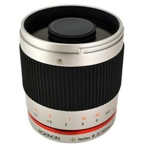 Rokinon Reflex 300mm f/6.3 ED UMC CS Lens for Fujifilm X (Silver)