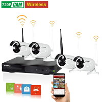 KAREye Camera System Video Surveillance Kit 4 720P Outdoor Bullet IP66 Camera