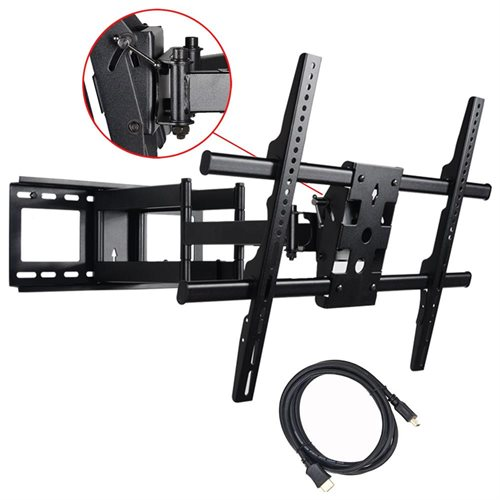 """VideoSecu Long Arm Tilt Swivel Rotate Articulating TV Wall Mount Bracket for most 40 42 46 47 50 52 55 60 65"""" LCD LED 3D Plasma Flat Panel Screen HDTV Display-165lbs/ Free 10ft HDMI Cable A37 0"""