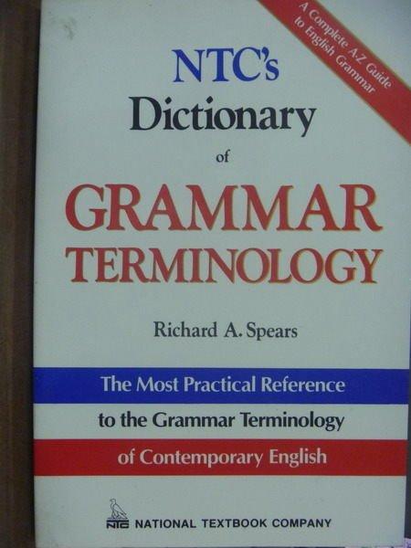 【書寶二手書T3/字典_QXT】NTCs Dictionary of…TERMINOLOGY