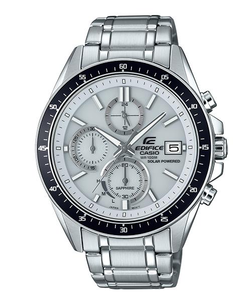 CASIO卡西歐 EDIFICE EFS-S510D-7A 太陽能水晶玻璃經典時尚計時腕錶
