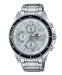 CASIO卡西歐EDIFICEEFS-S510D-7A太陽能水晶玻璃經典時尚計時腕錶