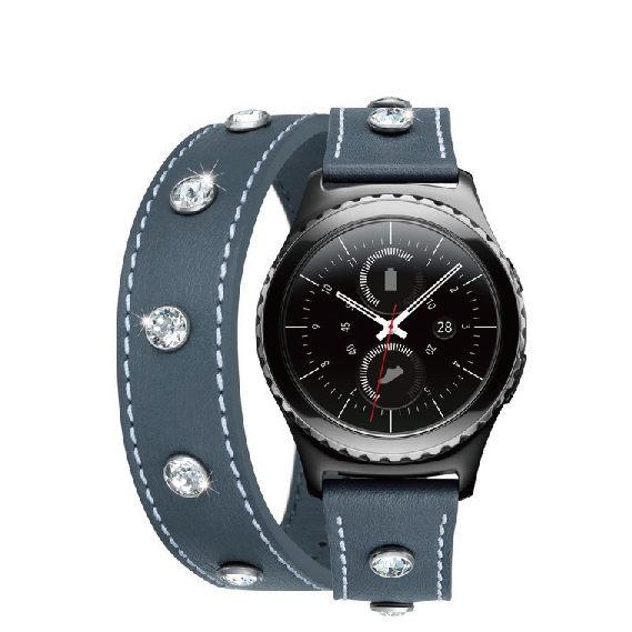 《限量錶帶》SAMSUNG Gear S2 classic (經典版)施華洛世奇錶帶