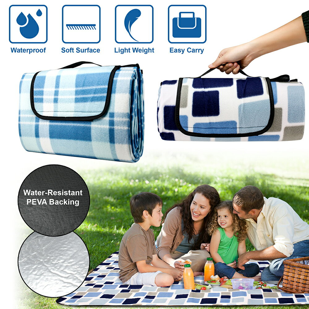Outdoor Waterproof Picnic Blanket For Foldable Beach Mat Sleeping Pads Camping Hiking Rug 0