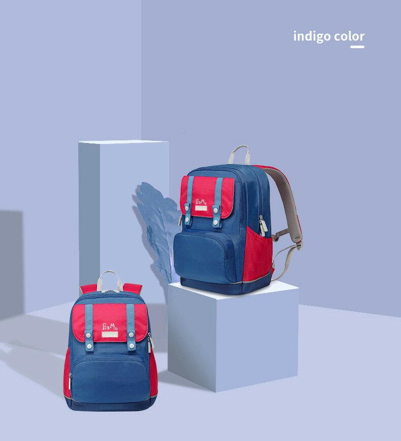 沒看過的鋁條書包,輕加上槓桿原理810公克100~160cm(1-6)810公克BaMo輕有鋁條紅藍護脊書包~ 胸扣腰扣超輕量 軟包硬墊