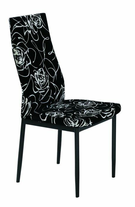 ~ 尚品傢俱~JF~482~7 曼菲斯黑色餐椅~黑布花