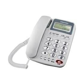 普騰 大鈴聲來電顯示電話-灰(PTE-005)