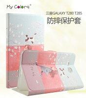 Samsung 三星到三星Tab J T285 7吋  MyColor 平板彩繪卡通皮套 T280 皮套 彩繪卡通皮套 保護殼 【預購商品】
