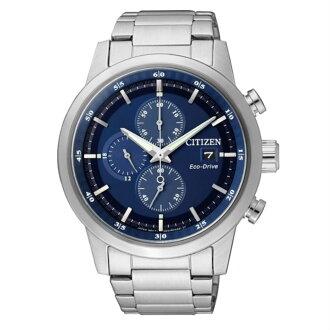 CITIZEN星辰CA0610-52L時尚光動能計時腕錶/藍面41mm