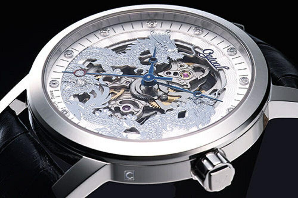 Ogival 愛其華 龍年典藏珍藏版機械錶(388-63AGS皮)銀色