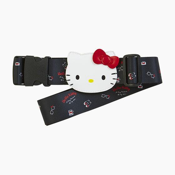 真愛日本:【真愛日本】17062700030造型行李束帶-KT旅行黑+AAW三麗鷗kitty凱蒂貓旅行箱束帶