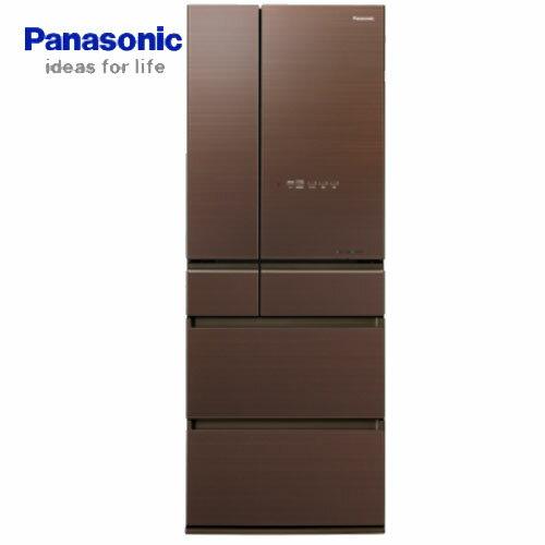 【夏日有禮賞】Panasonic 國際 NR-F503HX-T1 500L 六門冰箱 翡翠棕 無邊框玻璃系列 ECONAVI 智慧節能科技+nanoe™ X 健康科技