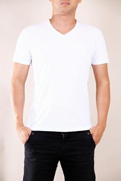 全尺碼 L-7L 高品質 涼感 超彈力 百搭 素面 圓領 V領 短袖T恤 801【CS衣舖 】 1
