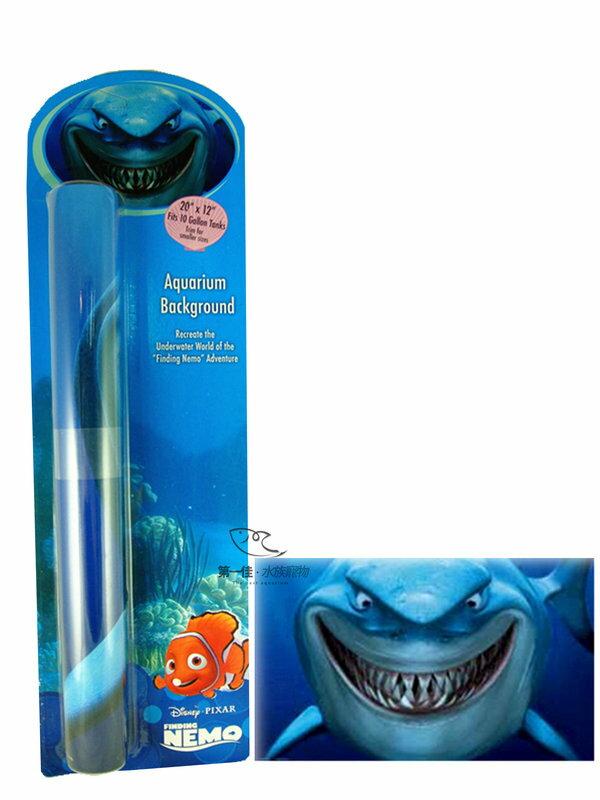 [第一佳 水族寵物] 美國PENNPLAX 卡通飾品系列-海底總動員(授權販售) [鯊魚布魯斯背景圖]
