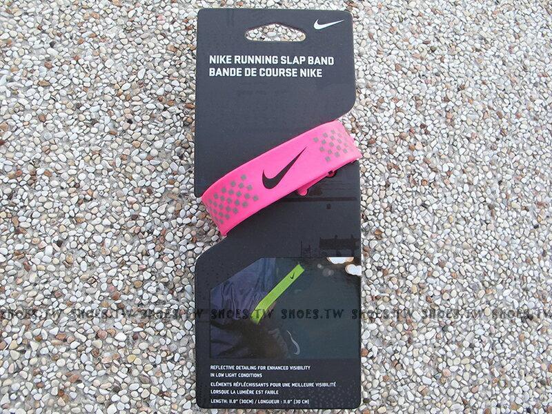 Shoestw【AC3601645】NIKE 反光手環 夜跑專用 男女適用 桃紅色