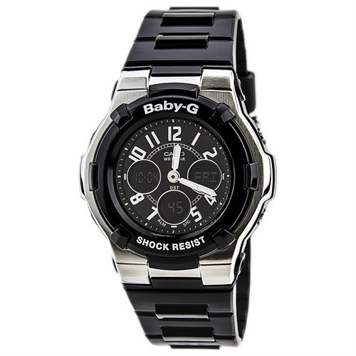 Casio Baby-G BGA110-1B2C Black Dial Black Resin Band Woman's Watch 0