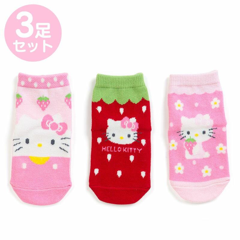 【真愛日本】三入造型襪子-KT加ABV 三麗鷗 kitty 凱蒂貓 兒童雨鞋