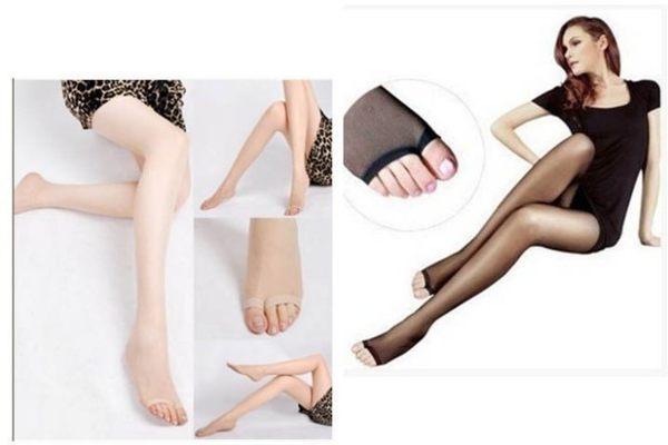 草魚妹:★草魚妹★H83絲襪超薄透膚包芯絲防勾露腳趾性感絲襪襪踩腳魚嘴襪,售價99元