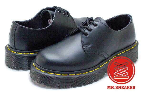 ☆Mr.Sneaker☆Dr.Martens1461BEXSMOOTH3EYE三孔厚底加厚增高黑色