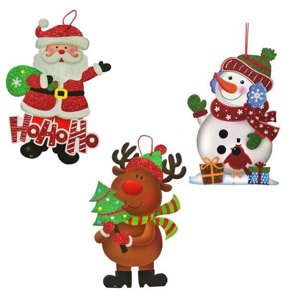 超Q聖誕雪人 麋鹿 聖誕老公公掛飾壁飾三入組 YS~XGS03003